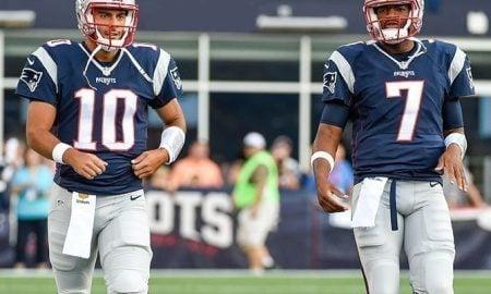 Jimmy Garoppolo e Jacoby Brissett, quarterbacks do New England Patriots