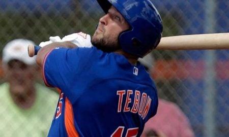 Tim Tebow, defensor externo do New York Mets