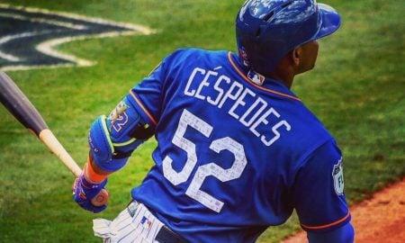 Yoenis Cespedes, defensor externo do New York Mets