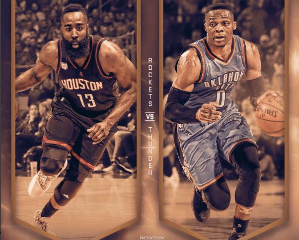 Harden Westbrook Rockets Thunder