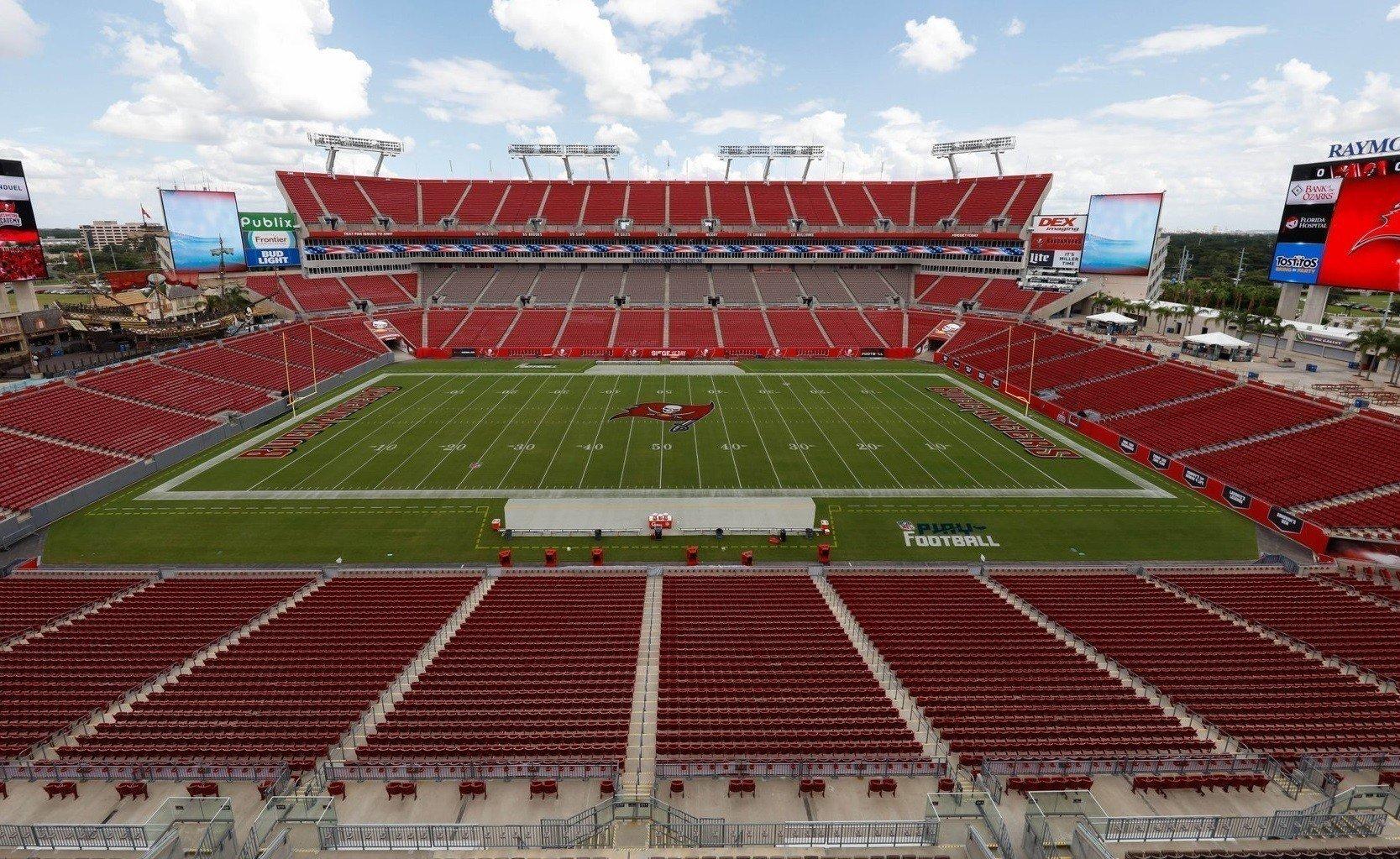 Raymond James Stadium, casa do Tampa Bay Buccaneers