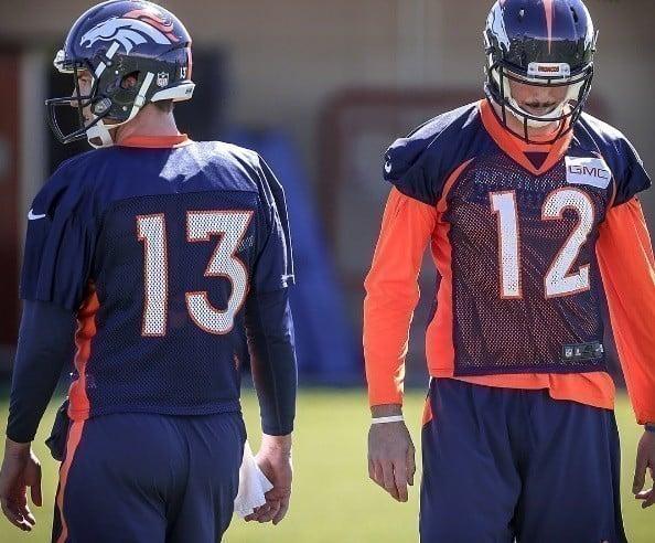 Trevor Siemian e Paxton Lynch, quarterbacks do Denver Broncos