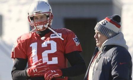 Tom Brady, quarterback do New England Patriots, e Bill Belichick