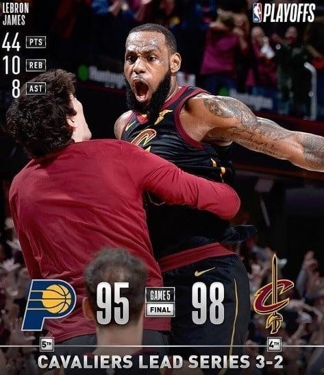 Cavaliers x Pacers - jogo 5