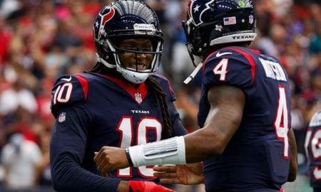 DeAndre Hopkins e Deshaun Watson, wide receiver e quarterback do Houston Texans