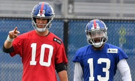 Eli Manning e Odell Beckham Jr., do New York Giants