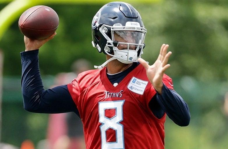 Marcus Mariota, quarterback do Tennessee Titans