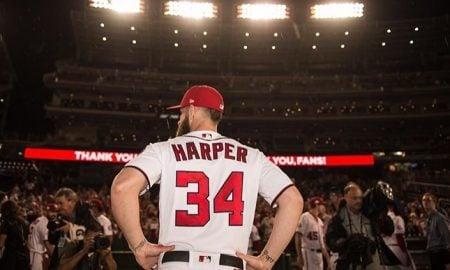 Bryce Harper, defensor externo do Washington Nationals