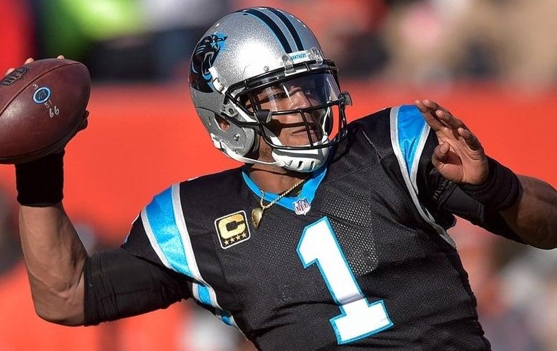 Cam Newton, quarterback do Carolina Panthers