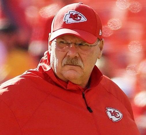Andy Reid, técnico do Kansas City Chiefs