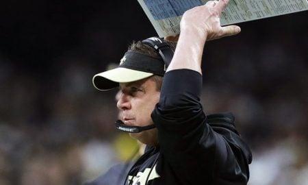 Sean Payton, técnico do New Orleans Saints