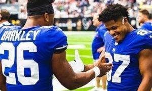 Saquon Barkley e Sterling Shepard, jogadores do futuro do New York Giants