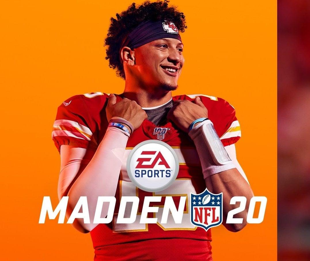 Patrick Mahomes, quarterback do Kansas City Chiefs, é a estrela da capa do Madden NFL 20