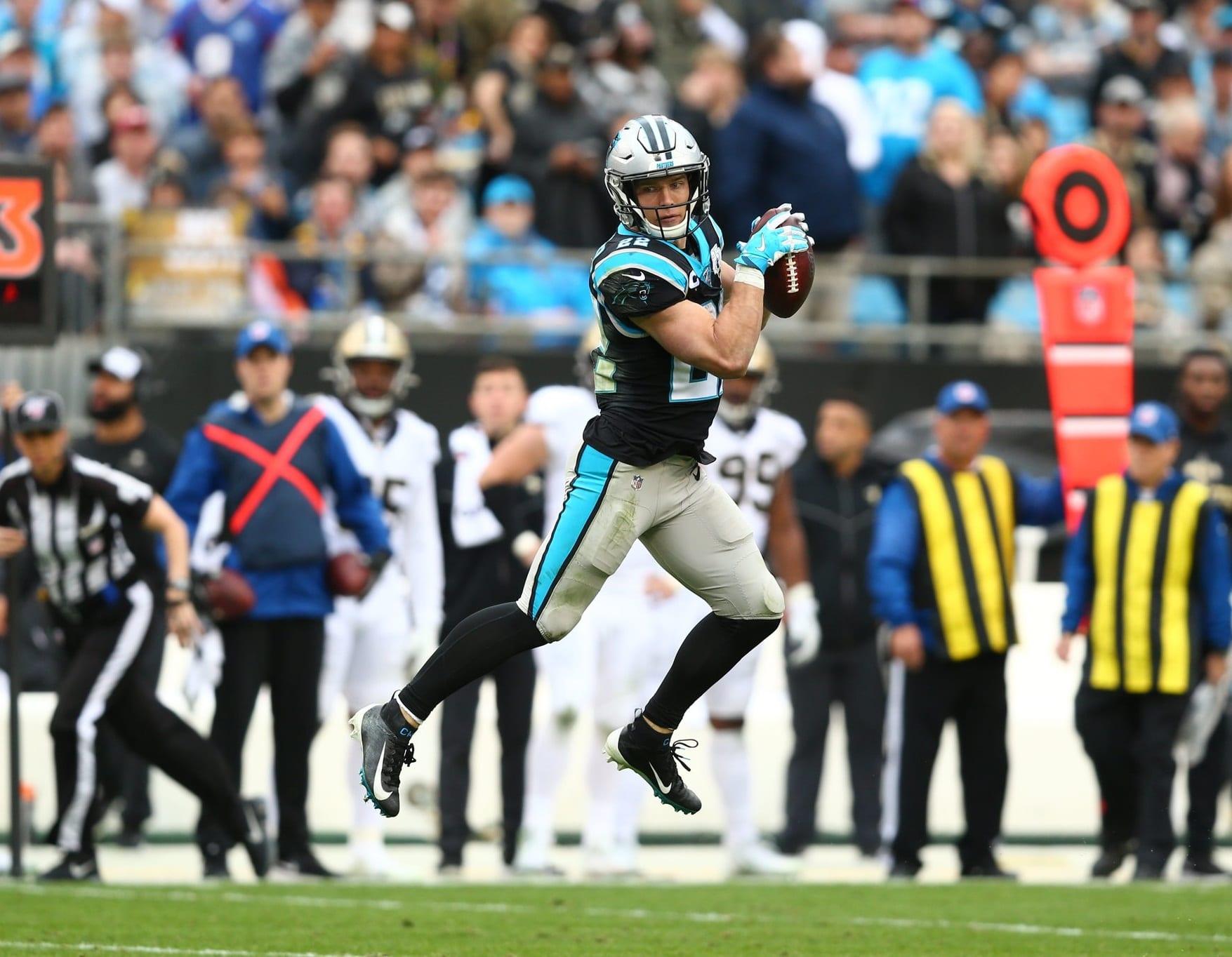 Christian McCaffrey, running back do Carolina Panthers