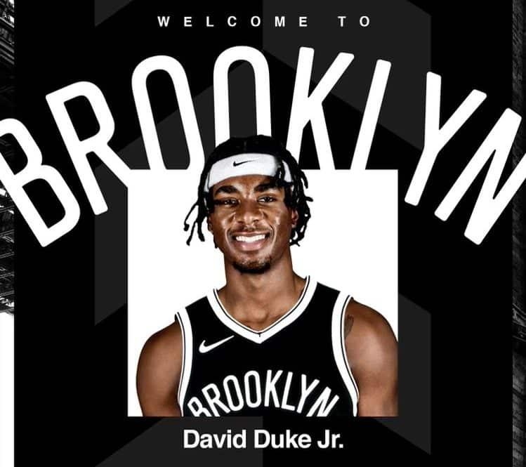 Nets anuncia a chegada de David Duke Jr e DeAndre 'Bembry